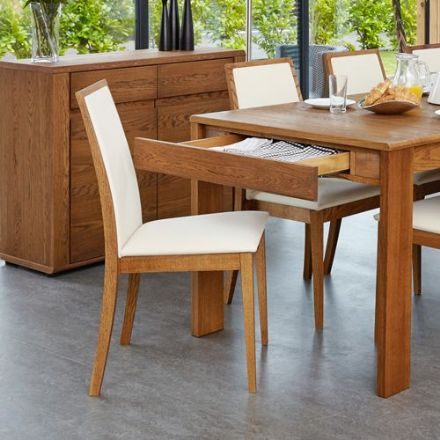 Olten Dark Oak Dining Chair - Cream (Pack Of Two)